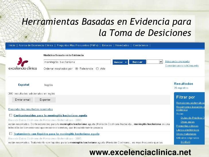 Herramientas Basadas en Evidencia para la Toma de Desiciones<br />www.excelenciaclinica.net<br />