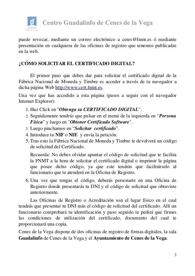 Manual sobre el certificado digital 2014 for Oficina certificado digital