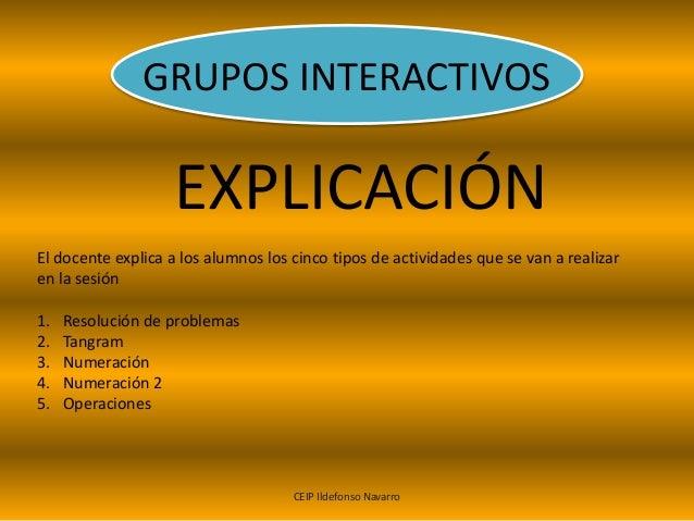 GRUPOS INTERACTIVOS Slide 2