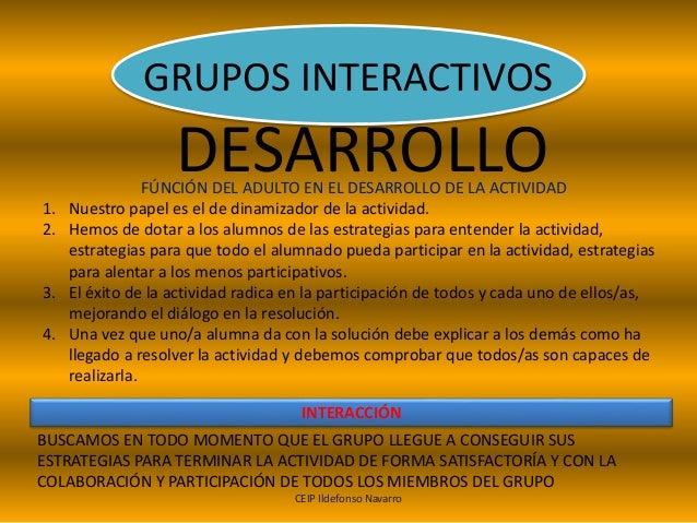GRUPOS INTERACTIVOS Slide 3