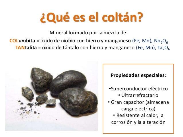 Información sobre coltan y reciclaje Slide 2