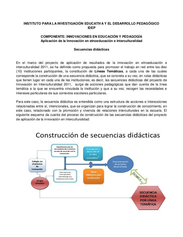 INSTITUTO PARA LA INVESTIGACIÓN EDUCATIVA Y EL DESARROLLO PEDAGÓGICO                                      IDEP            ...