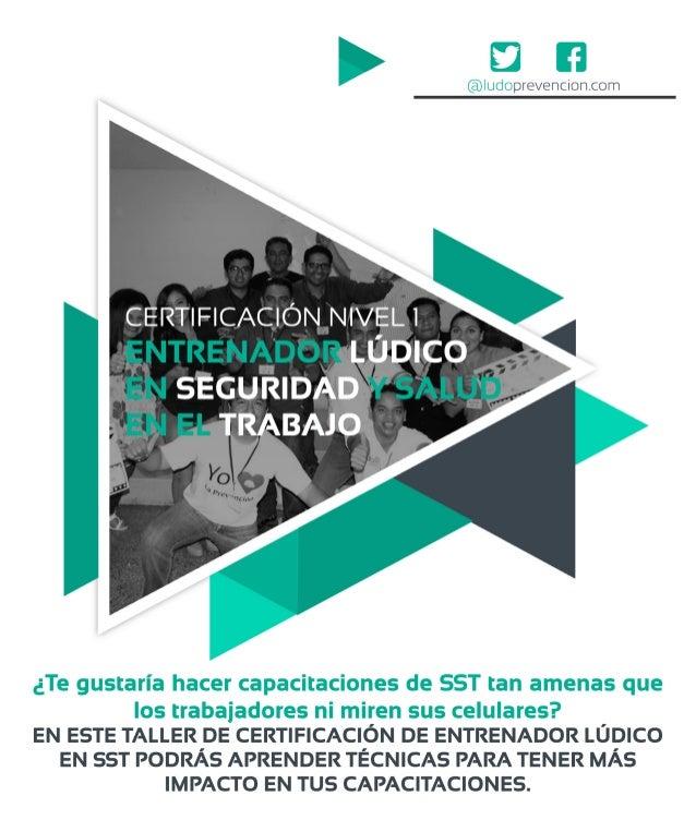 Certificación Entrenador Lúdico en SST de Lima