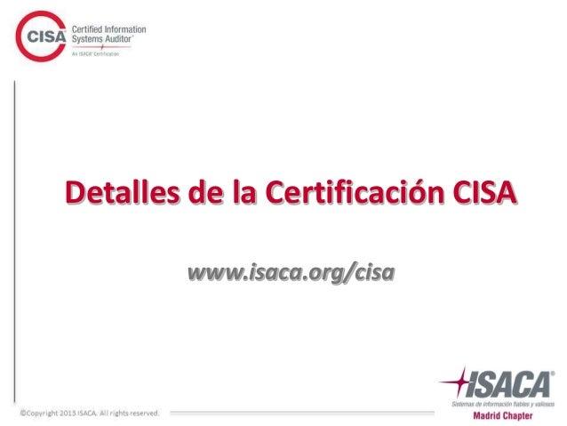 informaci n certificaci n y formaci n cisa 2017 rh es slideshare net