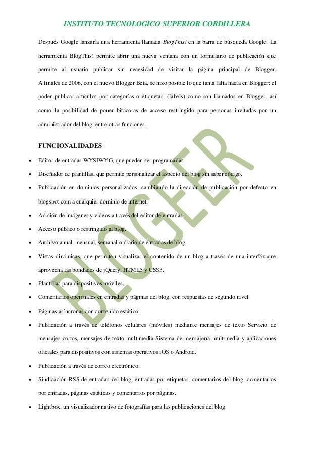 Informacion de blogger Slide 3