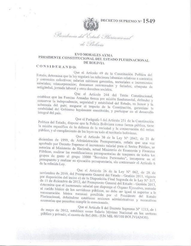 INFORMACIONES CEC-DS  1549 INCREMENTO SALARIAL 8% Y SALARIO MINIMO NACIONAL 20%