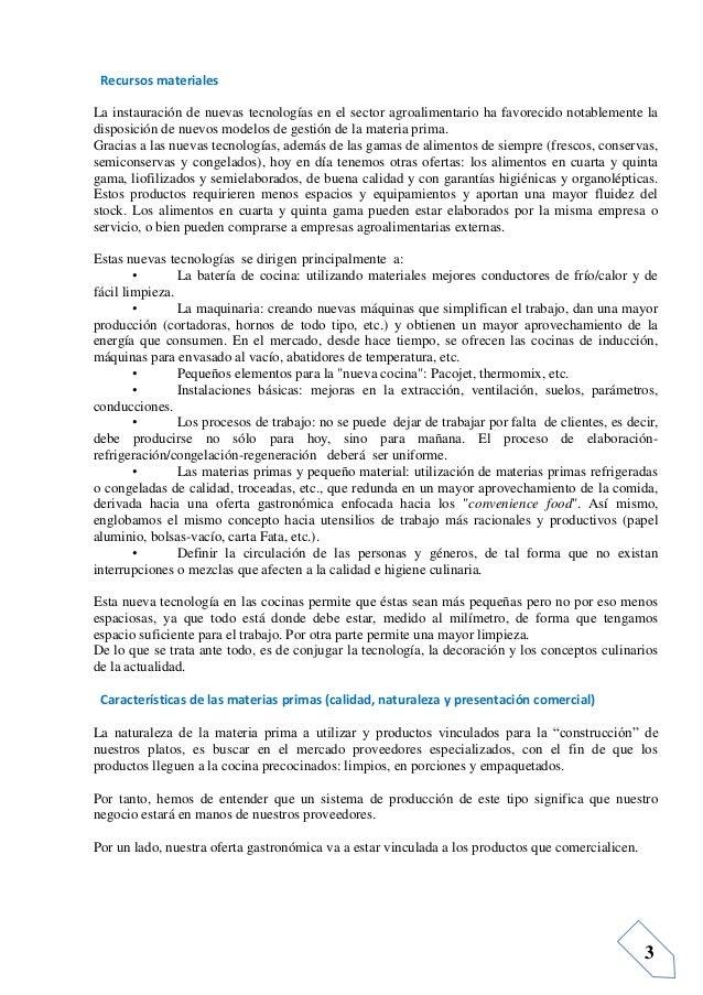 Informacion previa para operaciones de producci n for Equipo mayor y menos de la cocina pdf