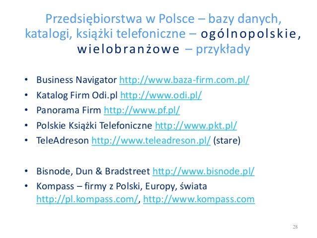 Przedsiębiorstwa w Polsce – bazy danych, katalogi, książki telefoniczne – ogólnopolskie, wielobranżowe – przykłady • Busin...