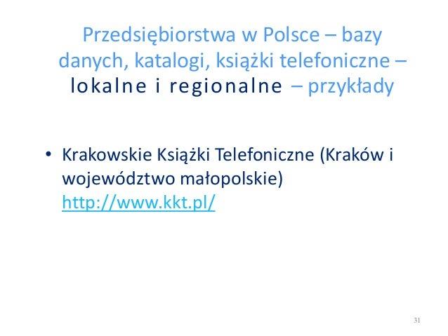 Przedsiębiorstwa w Polsce – bazy danych, katalogi, książki telefoniczne – lokalne i regionalne – przykłady • Krakowskie Ks...