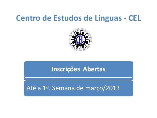Centro de Estudos de Línguas - CEL