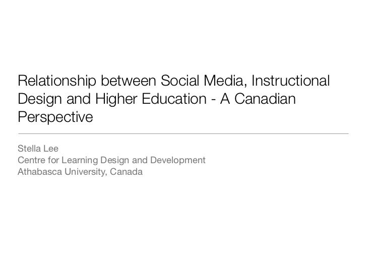 Relationship between Social Media, InstructionalDesign and Higher Education - A CanadianPerspectiveStella LeeCentre for Le...
