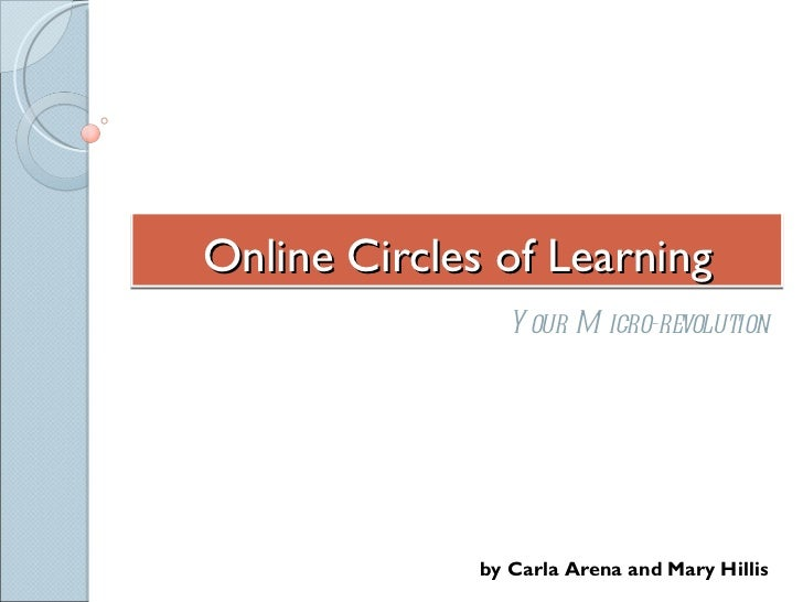 Online Circles of Learning Your Micro-revolution by Carla Arena and Mary Hillis
