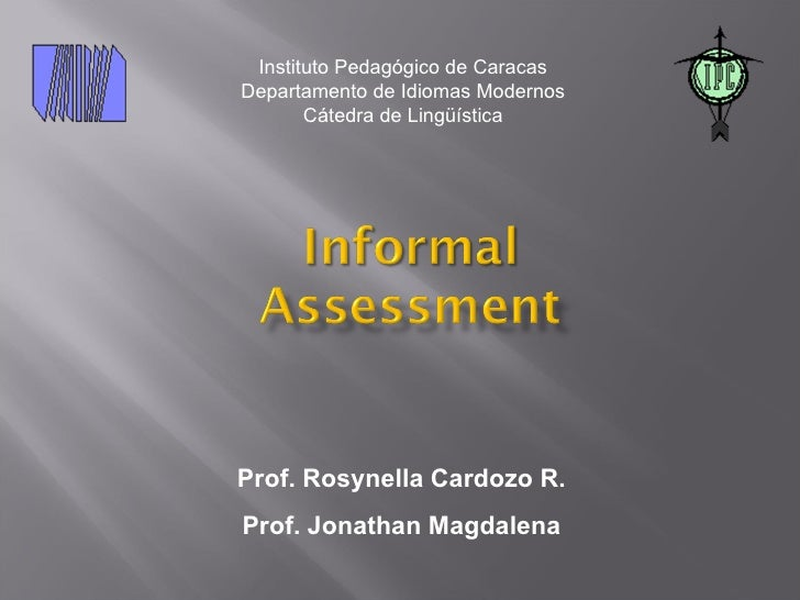 Instituto Pedagógico de Caracas Departamento de Idiomas Modernos        Cátedra de Lingüística     Prof. Rosynella Cardozo...