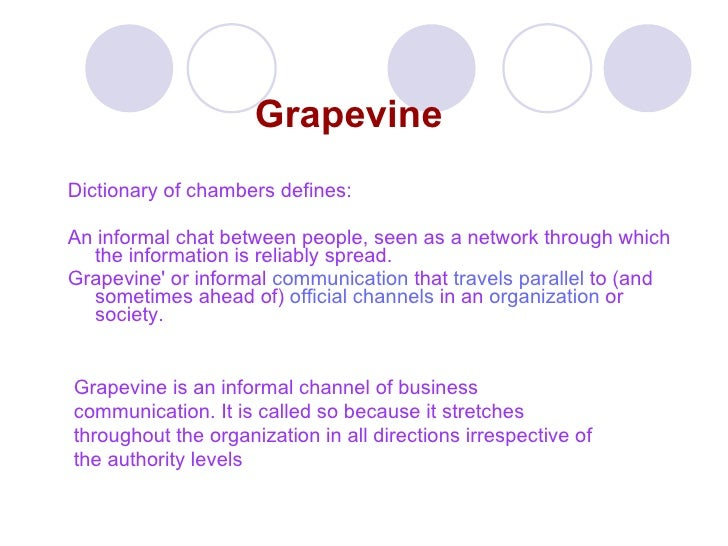 role of grapevine communication in an organization