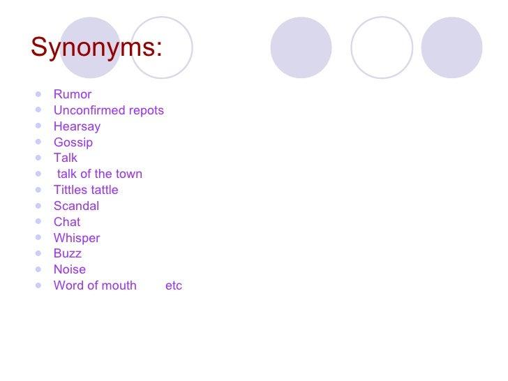 Tattle Synonym