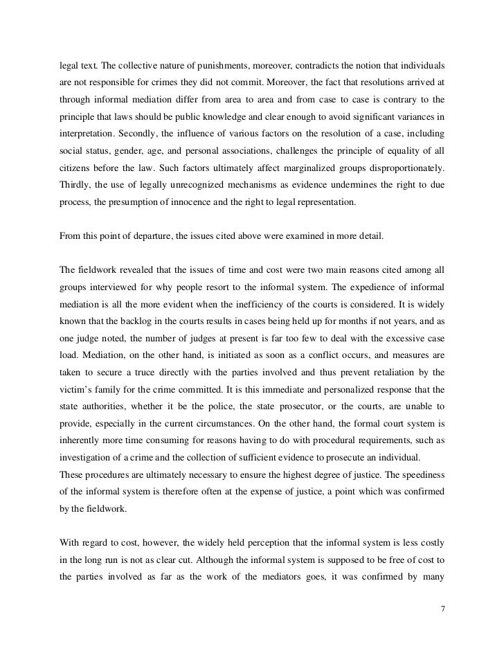 legal text. The collective nature of punishments, moreover, contradicts the notion that individualsare not responsible for...