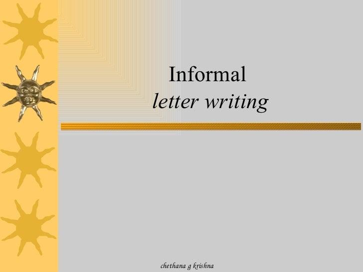 informal letter writing chethana g krishna