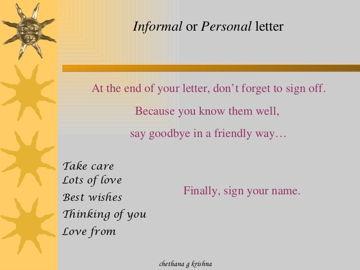 how to end a love letter informal letters 38315