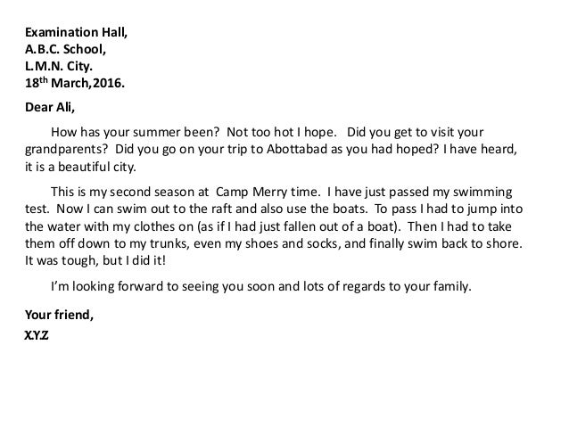 informal letter camping Sample letters to a friend in english - how i spent the summer letter in english sample letters to a friend in english how i spent the summer about my family.