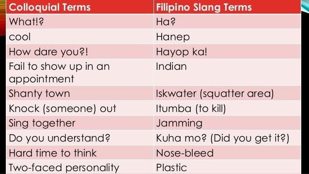 Informal Terminologies