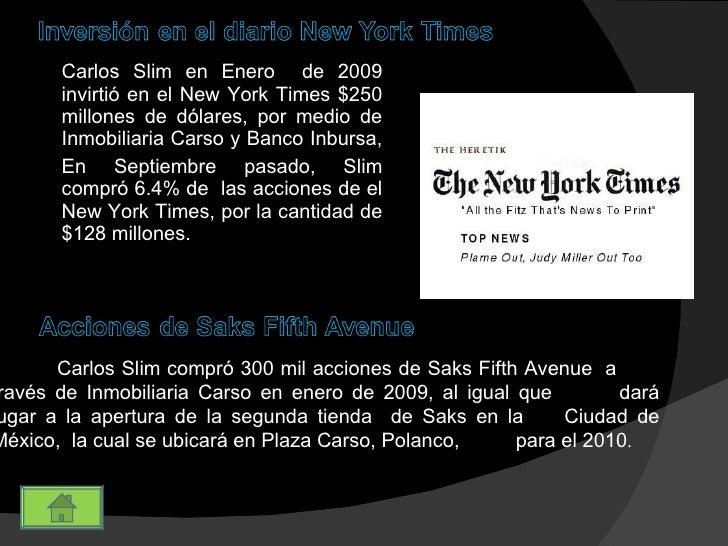 Informantes tec carlos slim for Inmobiliaria 5th avenue el medano