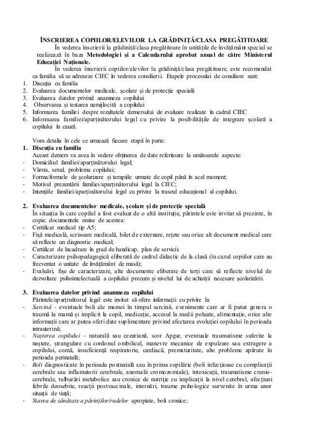 ÎNSCRIEREA COPIILOR/ELEVILOR LA GRĂDINIȚĂ/CLASA PREGĂTITOARE În vederea înscrierii la grădiniță/clasa pregătitoare în unit...