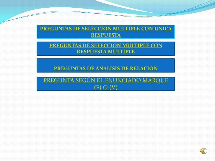 PREGUNTAS DE SELECCIÓN MULTIPLE CON UNICA                 RESPUESTA   PREGUNTAS DE SELECCION MULTIPLE CON           RESPUE...