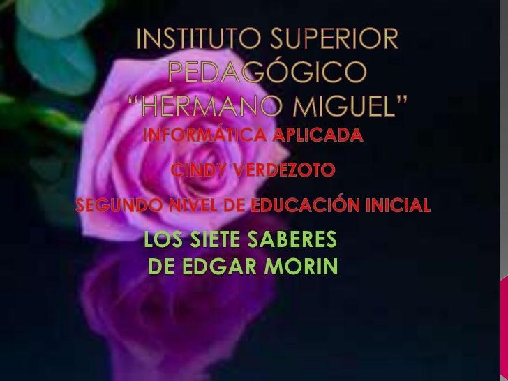 LOS SIETE SABERESDE EDGAR MORIN