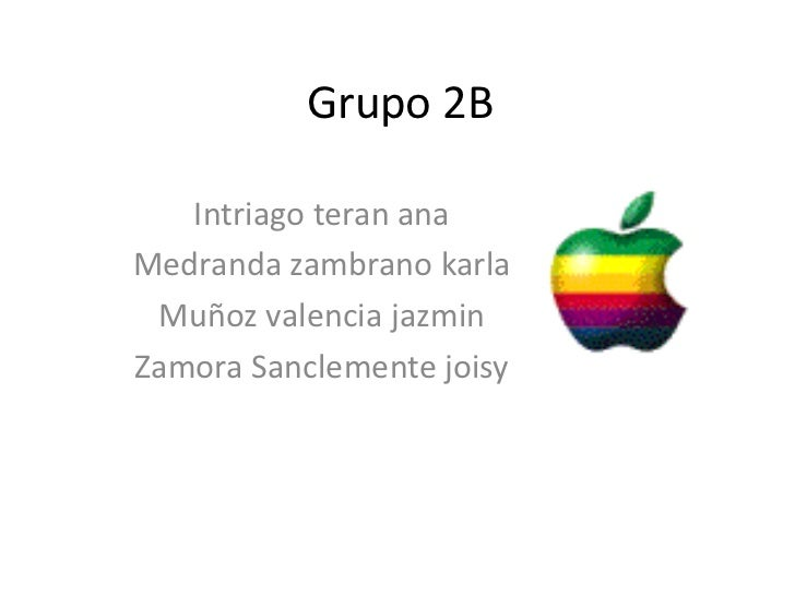 Grupo 2B   Intriago teran anaMedranda zambrano karla Muñoz valencia jazminZamora Sanclemente joisy