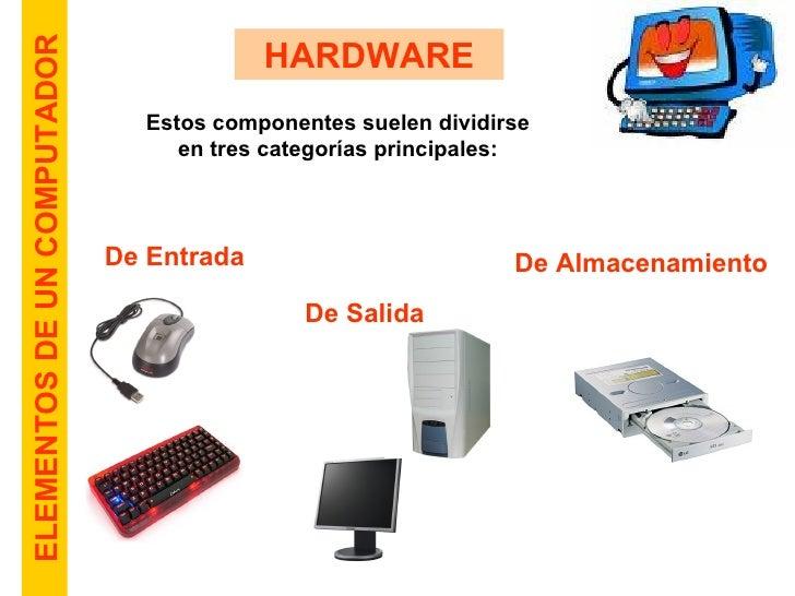 Elementos del computador for Elementos de hardware