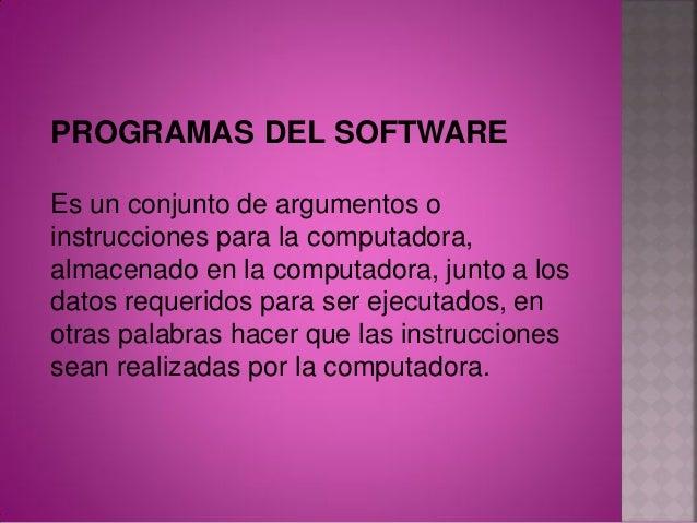 Software de usuario final: permite eldesarrollo de algunas aplicacionesdirectamente por los usuarios finales, elsoftware ...