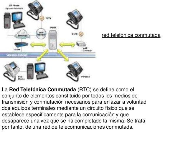 La Red Telefónica Conmutada (RTC) se define como el conjunto de elementos constituido por todos los medios de transmisión ...