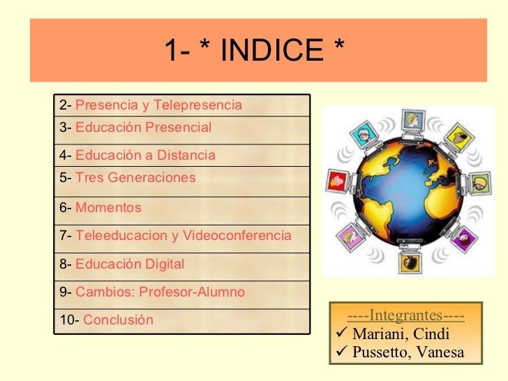 1- * INDICE *  <ul><li>----Integrantes---- </li></ul><ul><li>Mariani, Cindi </li></ul><ul><li>Pussetto, Vanesa </li></ul>9...