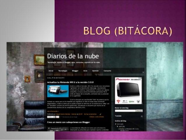  Es una página web en la que se publican regularmente artículos cortos con contenido actualizado y novedoso sobre temas e...