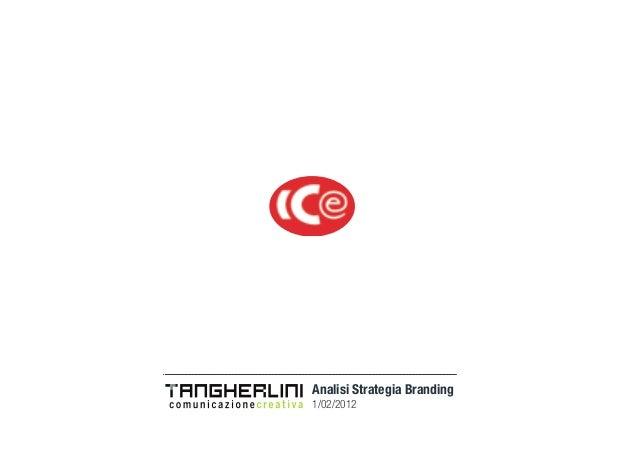 Analisi Strategia Branding 1/02/2012