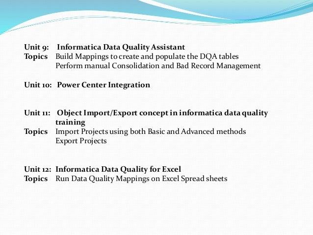 data quality training