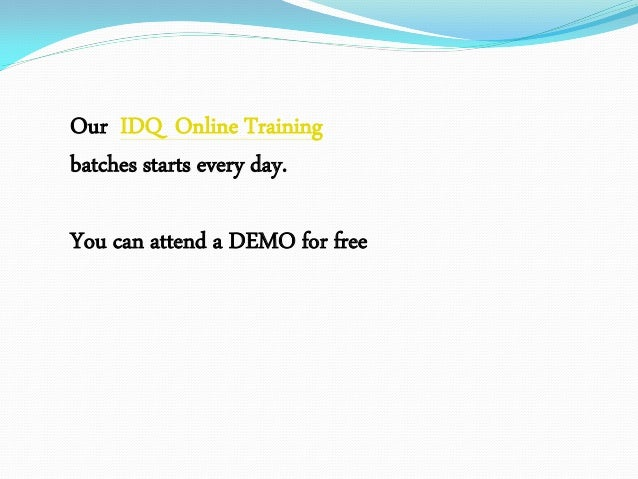 Informatica data quality training