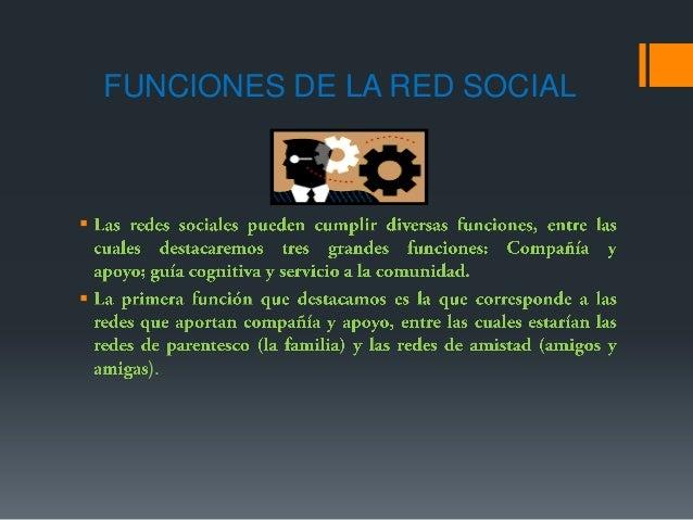 FUNCIONES DE LA RED SOCIAL).