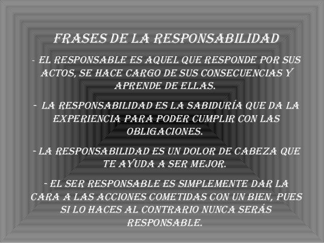 Trabajo Sobre El Responsabilidad