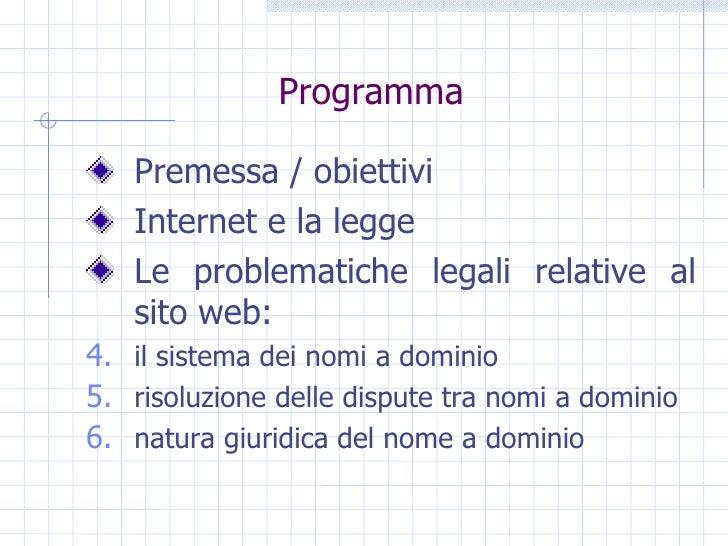 Informatica Giuridica 1 Slide 3