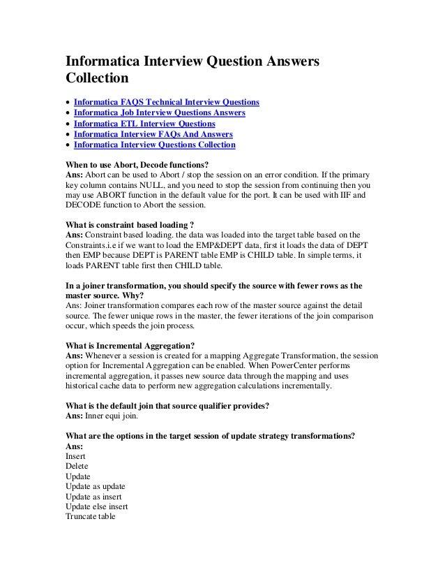 Informatica Interview Questions Book
