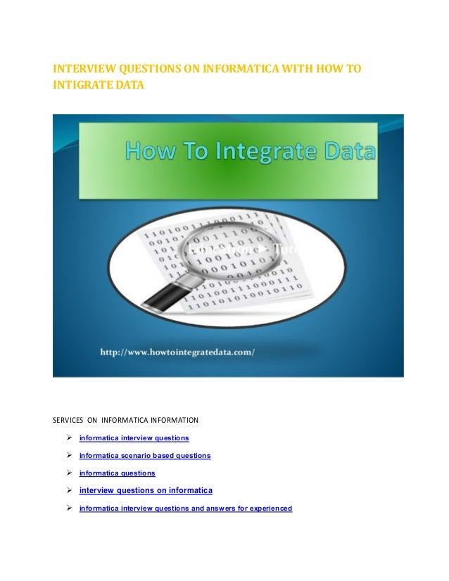 data warehouse interview informatica scenario based questions