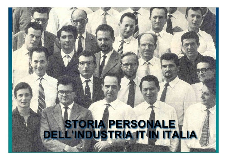 Mario Bolognani       STORIA PERSONALE DELL'INDUSTRIA IT IN ITALIA