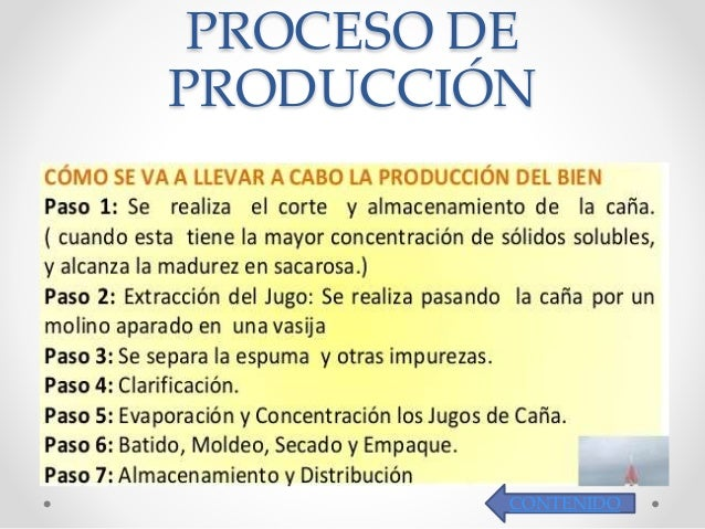 Proceso de producci n de panela for Descripcion del proceso de produccion