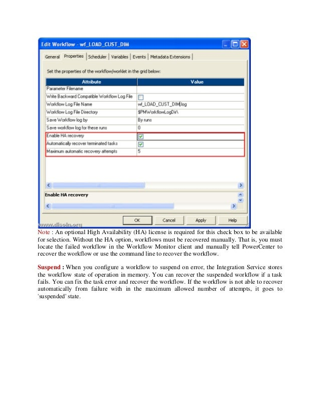 Informatica Failure recovery strategy