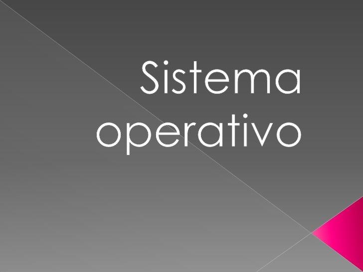 Sistema operativo<br />