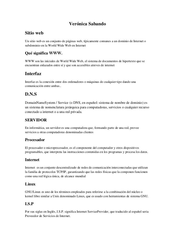 Verónica Sabando<br />Sitio web<br />Un sitio web es un conjunto de páginas web, típicamente comunes a un dominio de Inter...