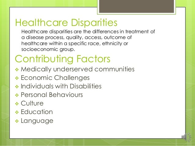 essay on health disparities This is a sample research paper about the health disparities that affect the african american community, including heart disease and diabetes.