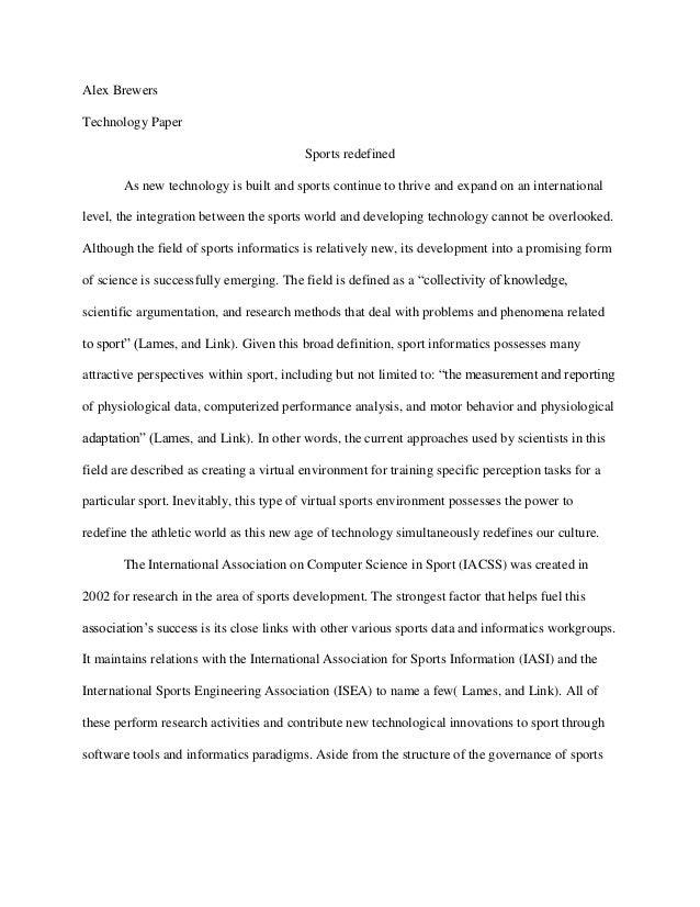 Essay on world of sports