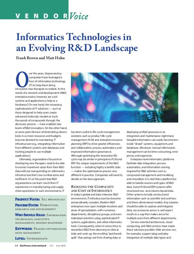 V E N D O R VoiceInformatics Technologies inan Evolving R&D LandscapeFrank Brown and Matt HahnO              ver the years...